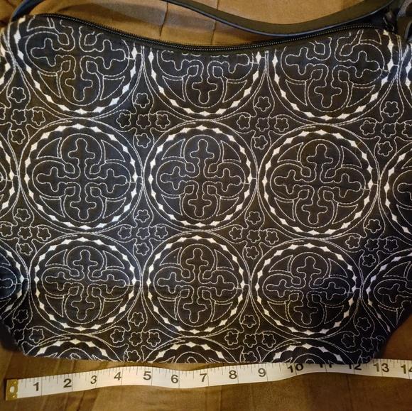 initials Handbags - Initials b&w hobo bag